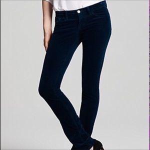 J Brand Skinny Leg Navy Corduroy Pants 30